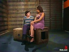 Dominant Annie Cruz Plays With Submissive Guy In Pegging Bdsm Vid